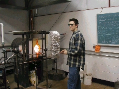 Glassblower.Info BCCC Glassblowing Class Photo 11-Apr-02 011 - Glassblower photo by Tony Patti