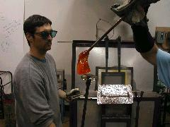 Glassblower.Info BCCC Glassblowing Class Photo 11-Apr-02 020 - Glassblower photo by Tony Patti