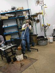 Glassblower.Info BCCC Glassblowing Class Photo 11-Apr-02 028 - Glassblower photo by Tony Patti