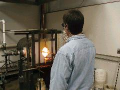 Glassblower.Info BCCC Glassblowing Class Photo 11-Apr-02 045 - Glassblower photo by Tony Patti