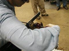 Glassblower.Info BCCC Glassblowing Class Photo 11-Apr-02 062 - Glassblower photo by Tony Patti