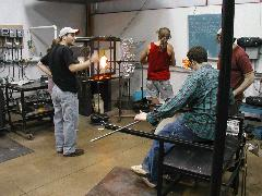 Glassblower.Info BCCC Glassblowing Class Photo 18-Apr-02 011 - Glassblower photo by Tony Patti