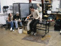 Glassblower.Info BCCC Glassblowing Class Photo 18-Apr-02 016 - Glassblower photo by Tony Patti