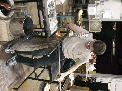 Glassblower.Info BCCC Glassblowing Class Photo 18-Apr-02 017 - Glassblower photo by Tony Patti