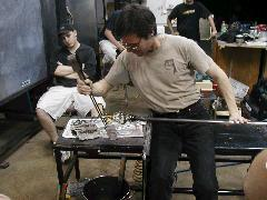 Glassblower.Info BCCC Glassblowing Class Photo 18-Apr-02 021 - Glassblower photo by Tony Patti