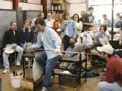 Glassblower.Info BCCC Glassblowing Class Photo 24-Apr-02 009 - Glassblower photo by Tony Patti