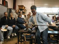 Glassblower.Info BCCC Glassblowing Class Photo 24-Apr-02 011 - Glassblower photo by Tony Patti