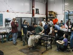 Glassblower.Info BCCC Glassblowing Class Photo 24-Apr-02 024 - Glassblower photo by Tony Patti