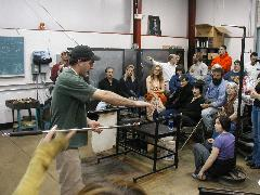 Glassblower.Info BCCC Glassblowing Class Photo 24-Apr-02 025 - Glassblower photo by Tony Patti