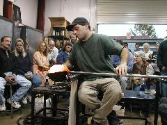 Glassblower.Info BCCC Glassblowing Class Photo 24-Apr-02 028 - Glassblower photo by Tony Patti