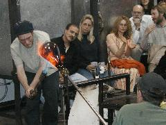 Glassblower.Info BCCC Glassblowing Class Photo 24-Apr-02 035 - Glassblower photo by Tony Patti