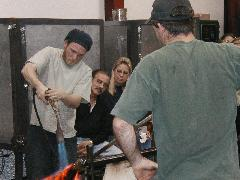 Glassblower.Info BCCC Glassblowing Class Photo 24-Apr-02 036 - Glassblower photo by Tony Patti