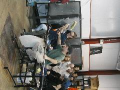 Glassblower.Info BCCC Glassblowing Class Photo 24-Apr-02 042 - Glassblower photo by Tony Patti