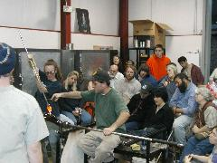 Glassblower.Info BCCC Glassblowing Class Photo 24-Apr-02 043 - Glassblower photo by Tony Patti