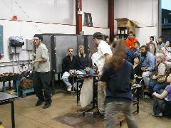 Glassblower.Info BCCC Glassblowing Class Photo 24-Apr-02 050 - Glassblower photo by Tony Patti