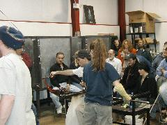 Glassblower.Info BCCC Glassblowing Class Photo 24-Apr-02 053 - Glassblower photo by Tony Patti