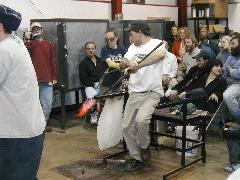Glassblower.Info BCCC Glassblowing Class Photo 24-Apr-02 055 - Glassblower photo by Tony Patti