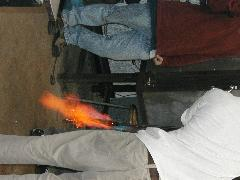 Glassblower.Info BCCC Glassblowing Class Photo 24-Apr-02 058 - Glassblower photo by Tony Patti