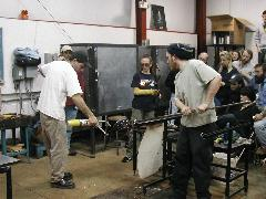 Glassblower.Info BCCC Glassblowing Class Photo 24-Apr-02 064 - Glassblower photo by Tony Patti