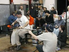 Glassblower.Info BCCC Glassblowing Class Photo 24-Apr-02 088 - Glassblower photo by Tony Patti