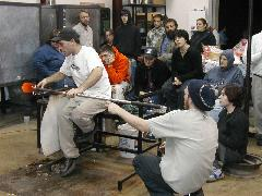 Glassblower.Info BCCC Glassblowing Class Photo 24-Apr-02 089 - Glassblower photo by Tony Patti