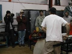 Glassblower.Info BCCC Glassblowing Class Photo 24-Apr-02 120 - Glassblower photo by Tony Patti