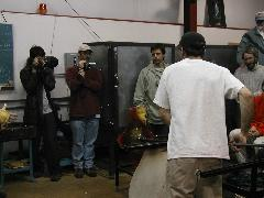 Glassblower.Info BCCC Glassblowing Class Photo 24-Apr-02 121 - Glassblower photo by Tony Patti