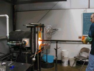 Glassblowing with Fused Cane 02
