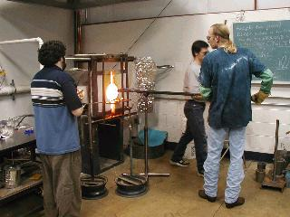 Glassblowing with Fused Cane 04