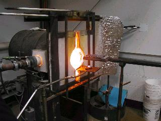 Glassblowing with Fused Cane 05