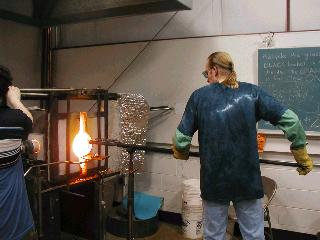 Glassblowing with Fused Cane 09