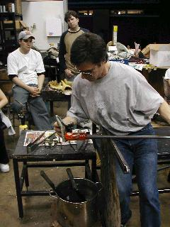 Glassblowing with Fused Cane 32