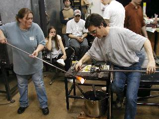 Glassblowing with Fused Cane 34