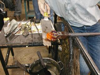 Glassblowing with Fused Cane 38