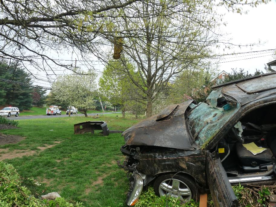 Car Accident - Telephone Pole - April 15 2012