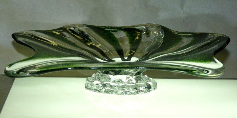 "Glassblower.Info - Combo Glassblowing Mold - ""V is for Victory"" - large wide footed bowl"