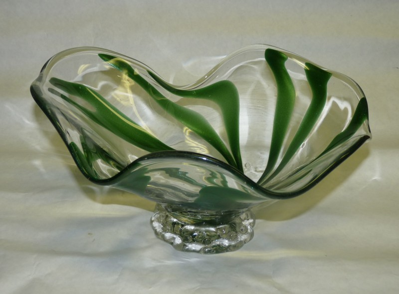 Glassblower.Info - Combo Glassblowing Mold - Spiral Free Form Bowl - front view