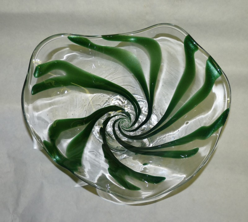 Glassblower.Info - Combo Glassblowing Mold - Spiral Free Form Bowl - top view
