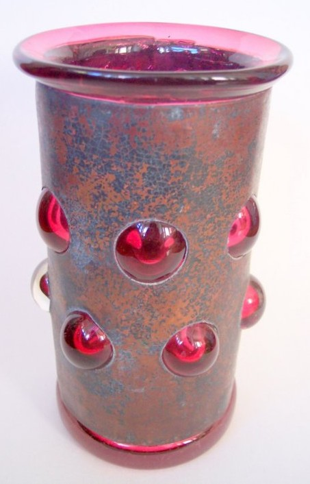 Glassblower.info - Rebecca Zhukov Providence Art Glass Copper and Ruby Red Vase