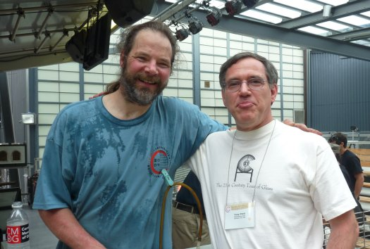 Ed Schmid and Tony Patti at Glass Art Society (GAS) 2009 Conference at Corning Museum of Glass (CMOG)
