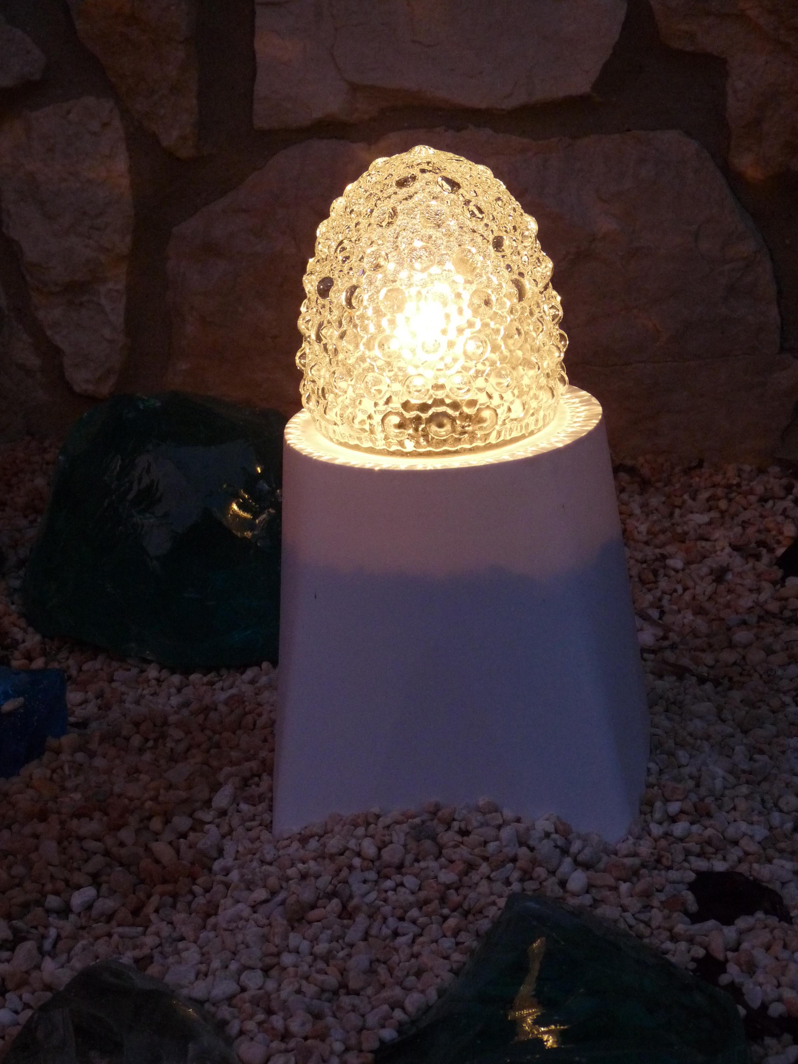 Landscape Lighting Wire Size Part - 36: Glassblower.info - Hand Blown Art Glass Landscape Lighting - Clear - Lit -  640