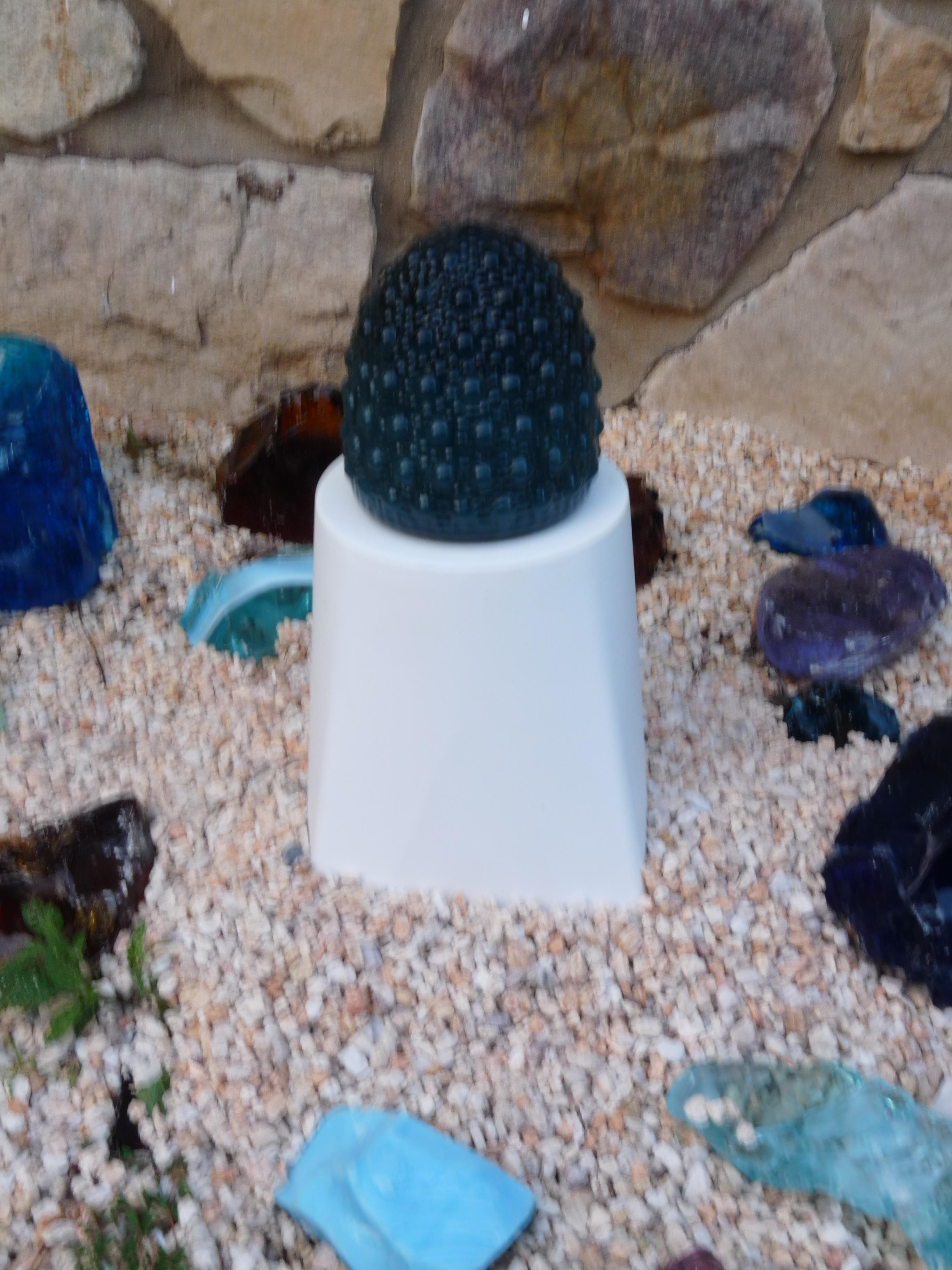 Landscape Lighting Wire Size Part - 31: Glassblower.info - Hand Blown Art Glass Landscape Lighting - Turquoise -  Unlit - 640