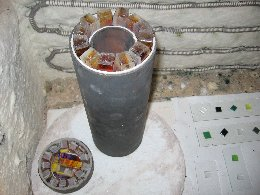 Mark Hall - Hallmark Art Glass - Kiln-formed Cylinders to Blow Out - Photo #3