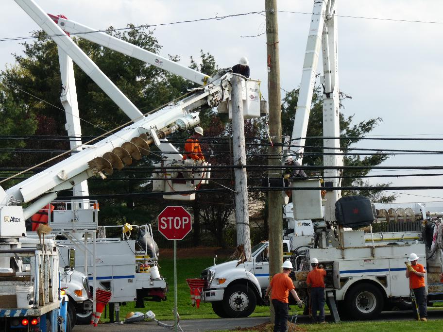 Peco Exelon Telephone Replacement after Car Accident April 15 2012