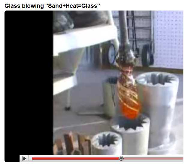 Lynn Dee Dinning Glass Artist Molds Shown During YouTube Video