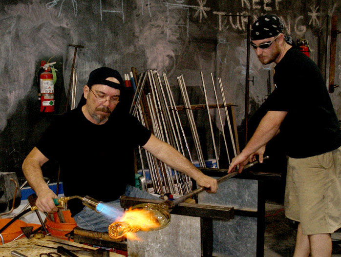 www.Glassblower.info image for Tulsa Glassblowing Studio